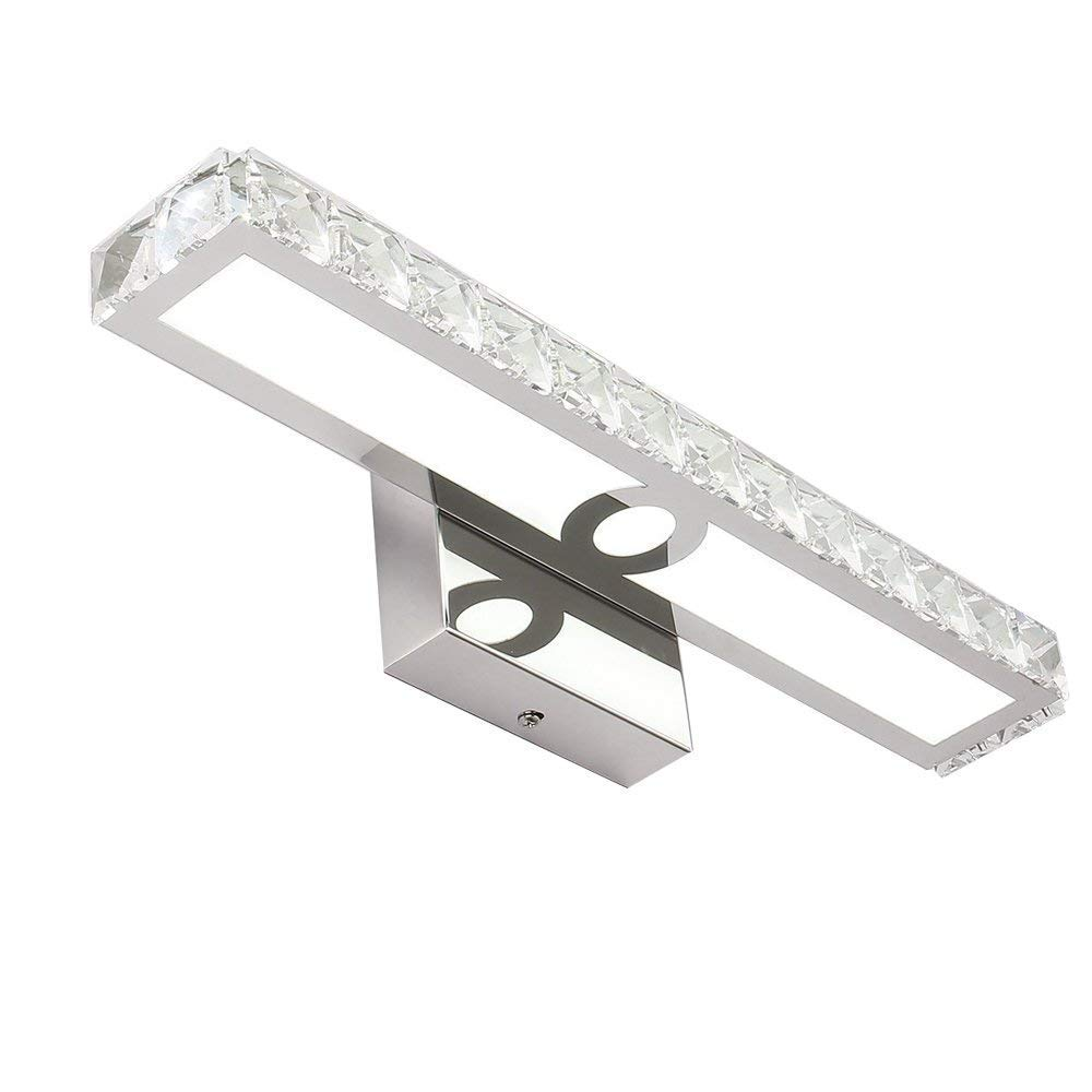 LED Vanity Lights 16W Lighting Fixtures 16.5inch Crystal Wall Lights for Bathroom, Cold White